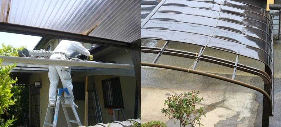カーポート屋根を確認