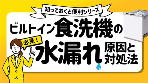 【水漏れ】食洗機の水漏れの原因と対処法【床】