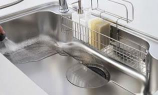 きれいに洗い流せるシンク