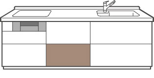 調理スペース用フロアキャビネット